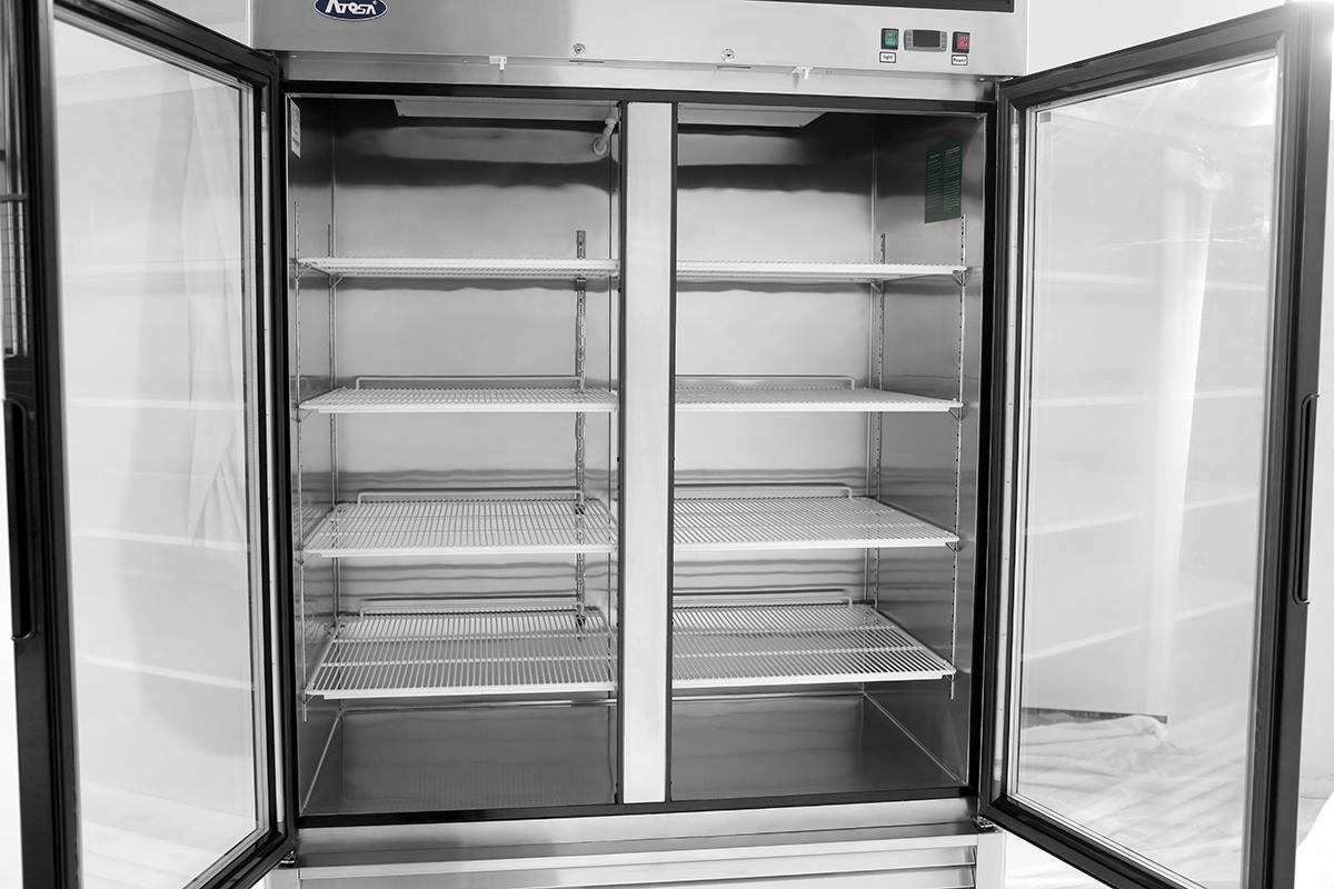 MCF8703 u2013 Bottom Mount (2) Two Glass Door Freezer & MCF8703 u2013 Bottom Mount (2) Two Glass Door Freezer u2013 Atosa Catering ...