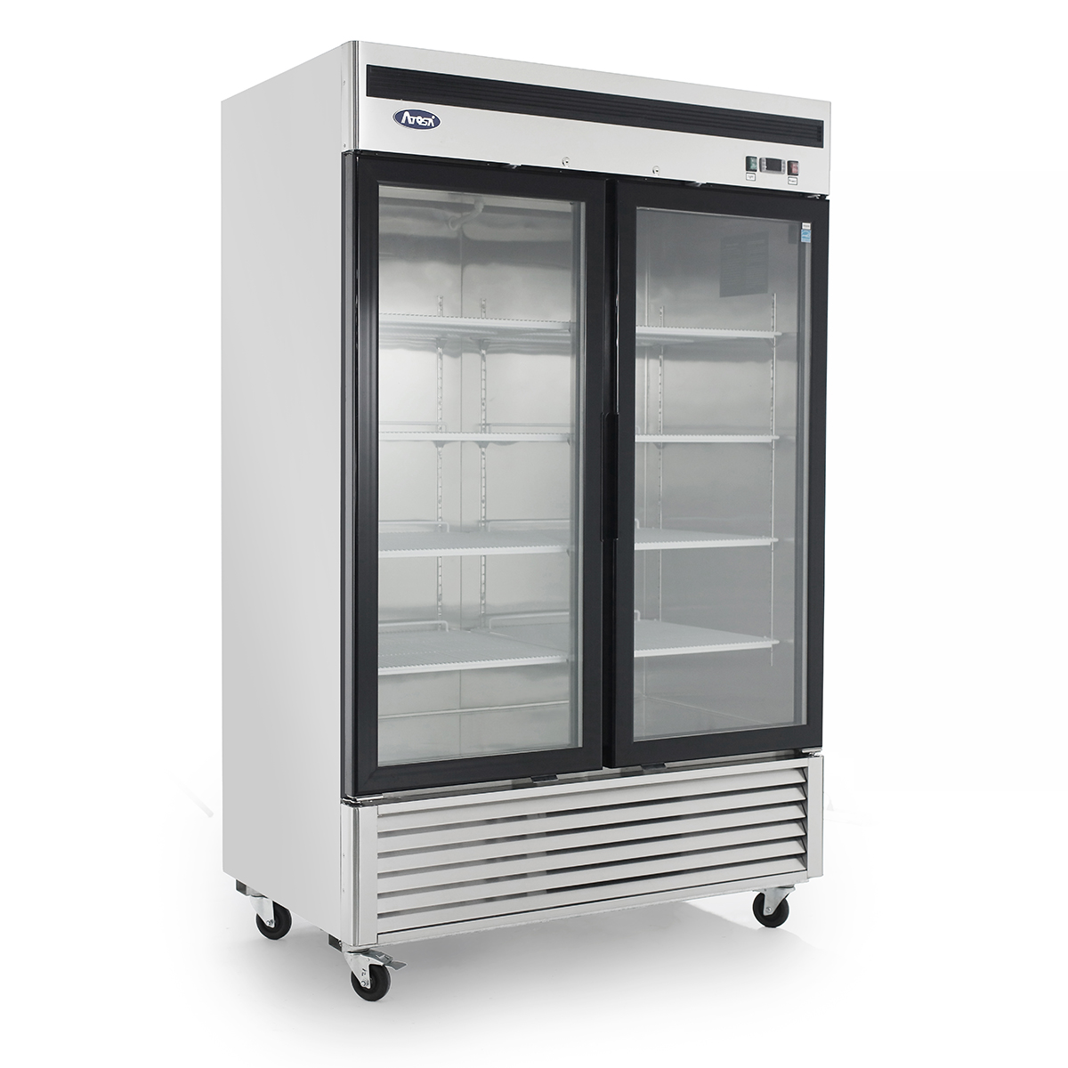 Mcf8707 Bottom Mount 2 Two Glass Door Refrigerator