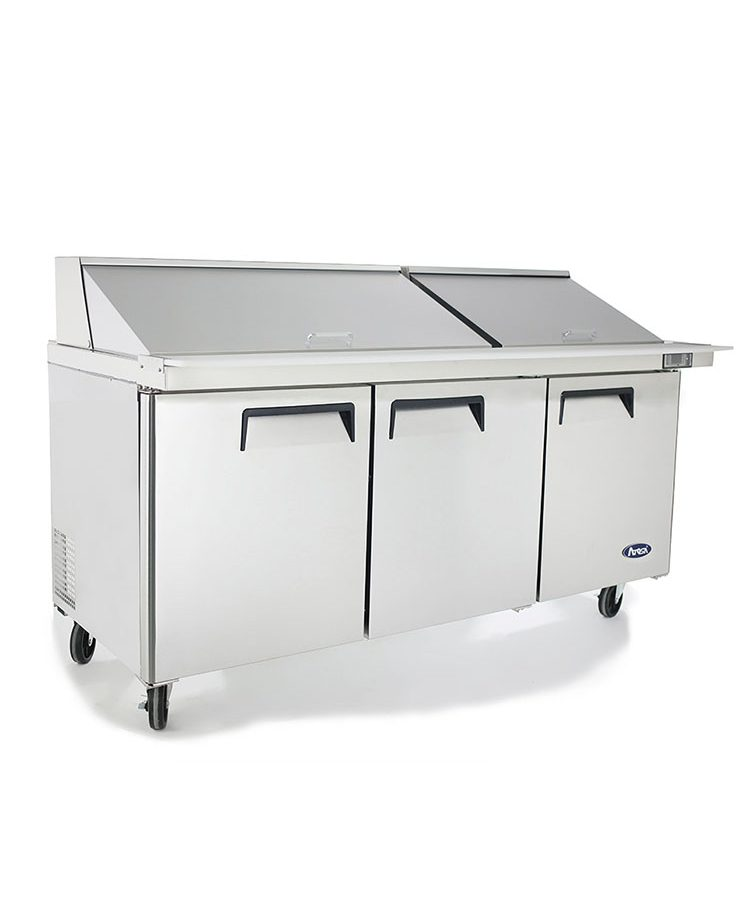 msf8308 72u2033 mega top sandwich prep table u2013 atosa catering equipment inc - Atosa