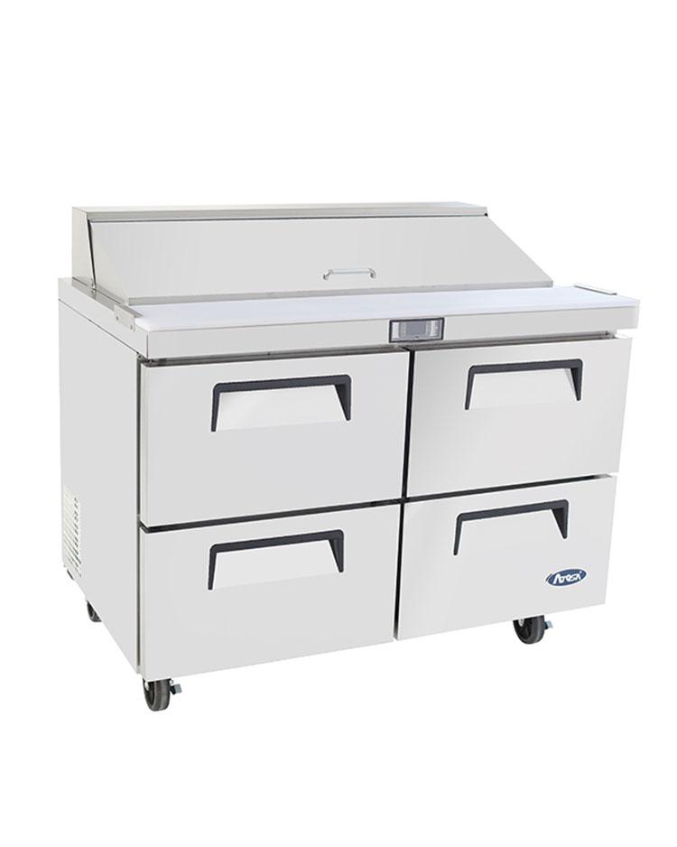 msf8311 48u2033 fourdrawer sandwich prep table u2013 atosa catering equipment inc - Sandwich Prep Table