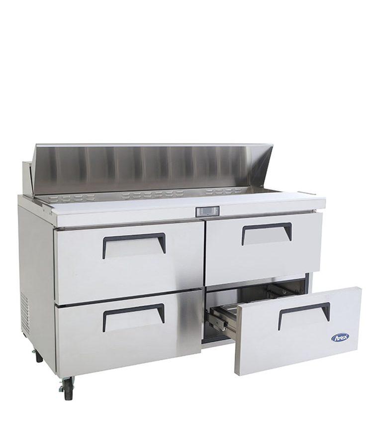 msf8313 60u2033 twodrawer sandwich prep table - Sandwich Prep Table