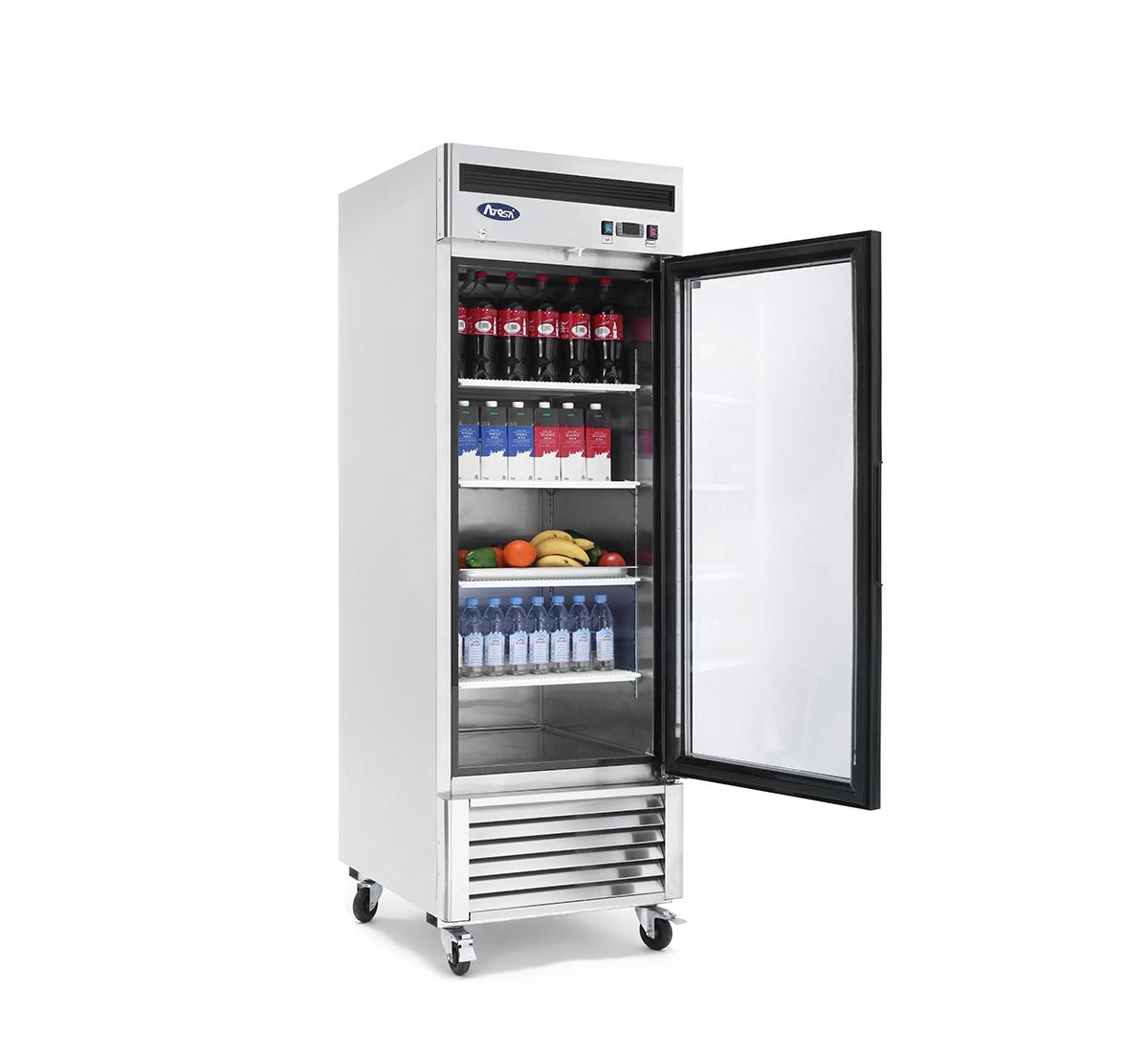 Commercial Refrigerator,ATOSA MCF8705 Bottom Mount 1 One Glass Door Refrigerator