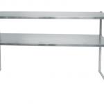Worktable, overshelf, stainless steel overshelf